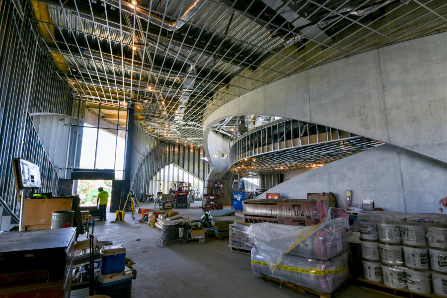 National Veterans Memorial and Museum interior under construction on site