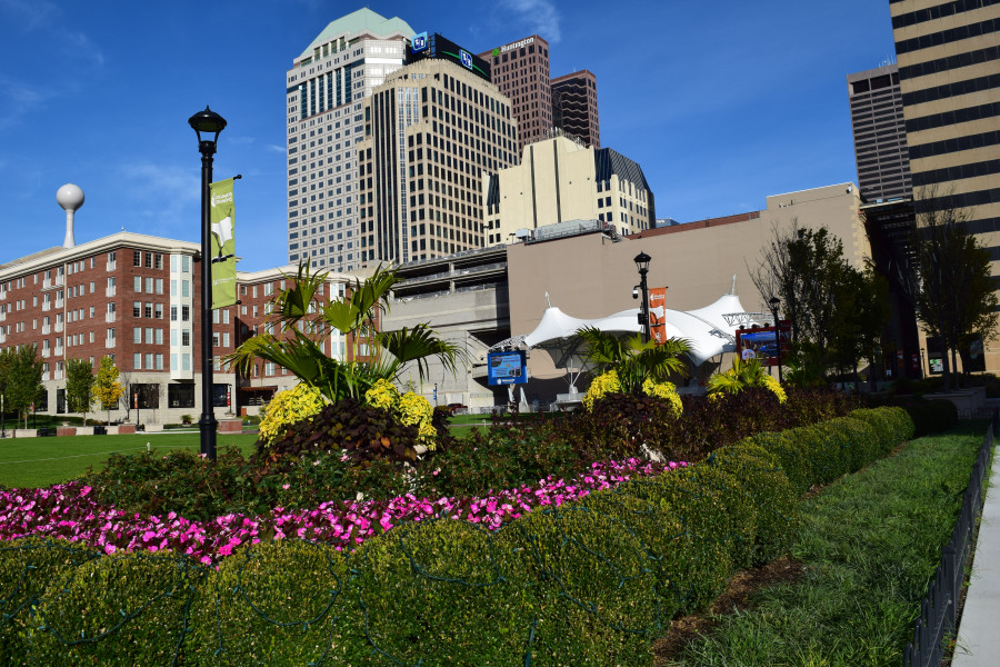 View of Gardens at Columbus Commons